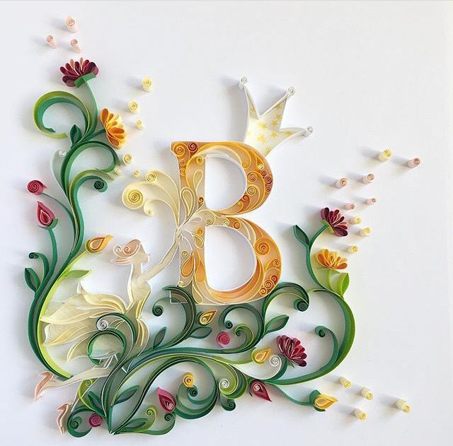 Quilled By Olia B Letter Quilling Designs Quilling Letters Quilling Paper Craft