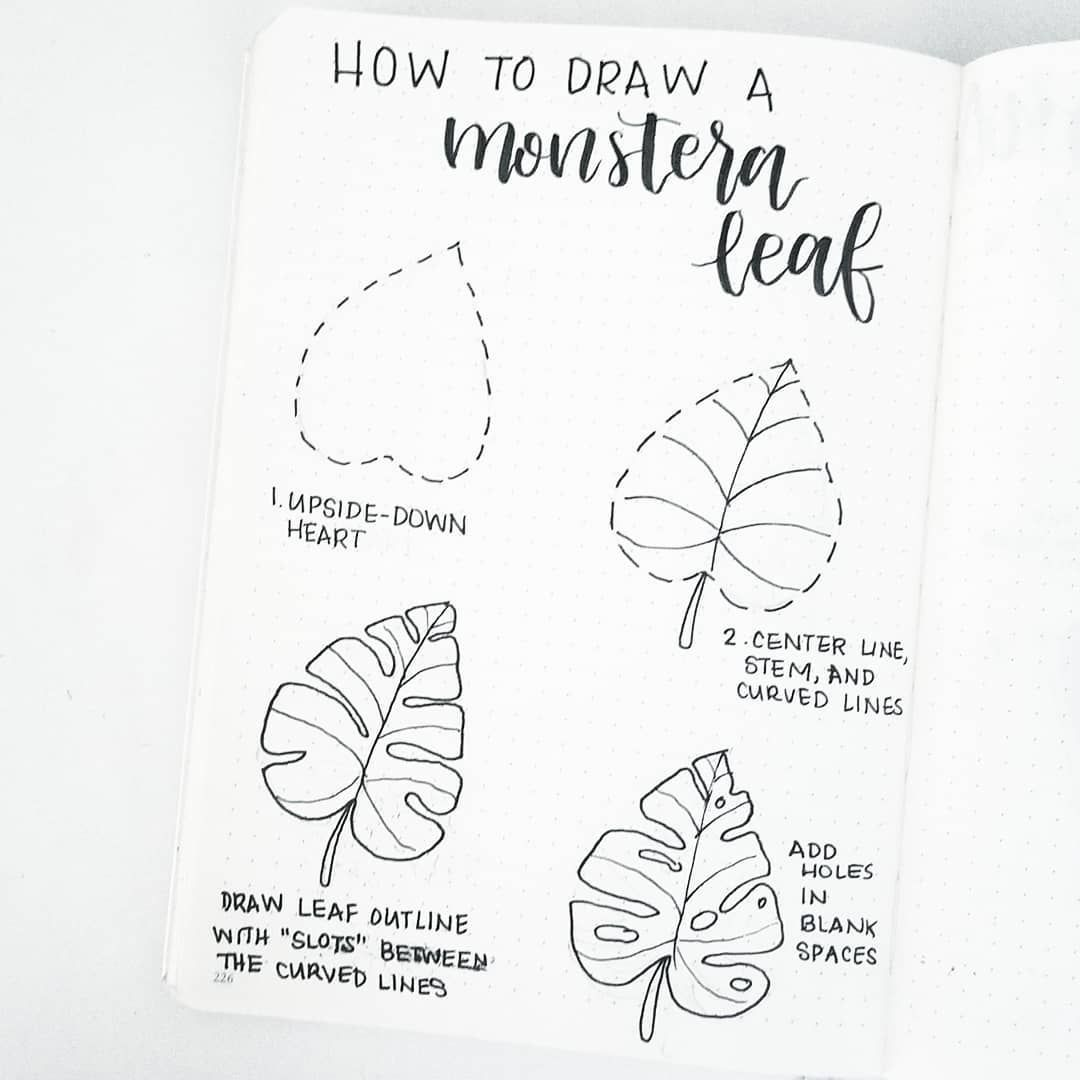 60 Amazing Doodle Quot How To S Quot For Your Bullet Journal Leaf Drawing Bullet Journal Bullet