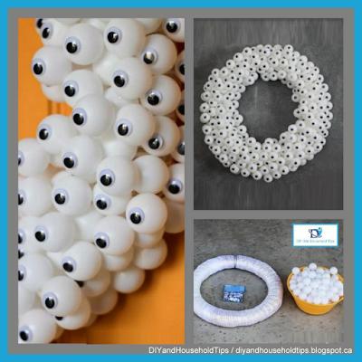 Ping Pong Ball And Googly Eye Wreath Googly Eye Wreath