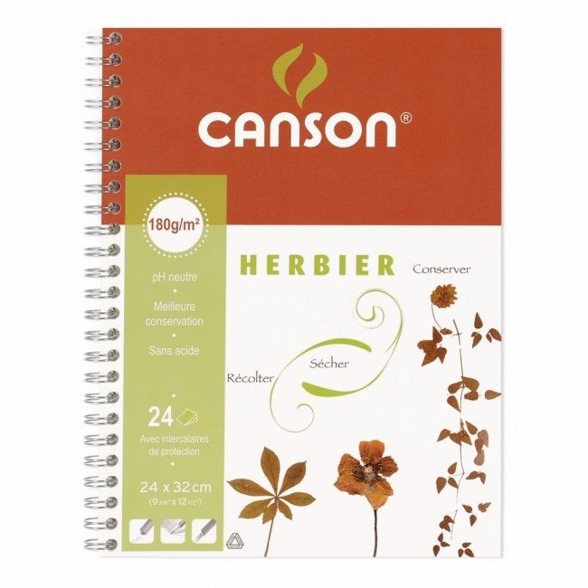 CANSON Herbier - A4+ - Cahier - 24 x 32 - 48 pages - Unis
