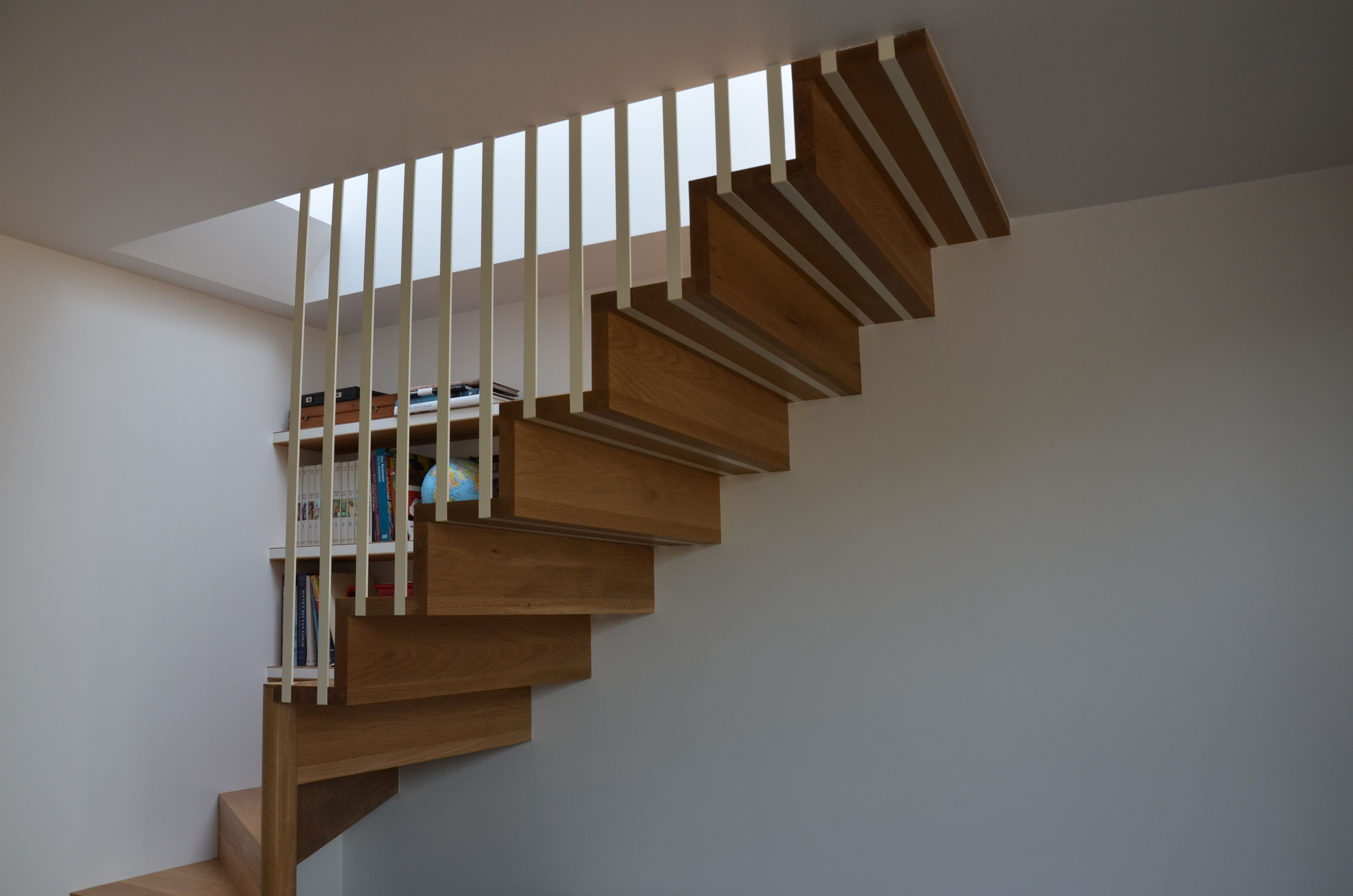 Best Solid Oak Stair Treads With Powder Coated Steel Balustrade 400 x 300