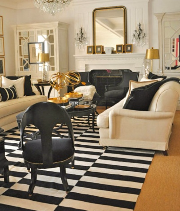 Beige Black And Gold Gold Living Room Home Black And White Living Room