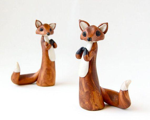 Custom Fox Kitsune Ornament or Figurine