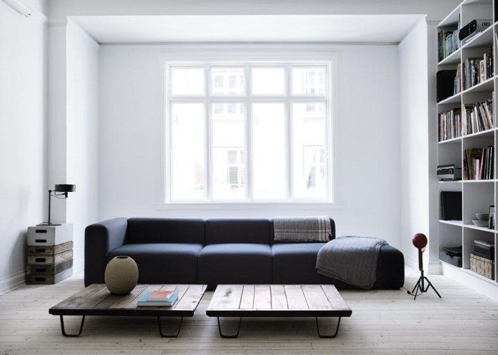 White livingroom fron Danish Elle Decoration