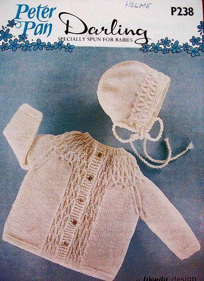 Pdf Digital Vintage Knitting Pattern P238 Baby Smocked Jacket Coat