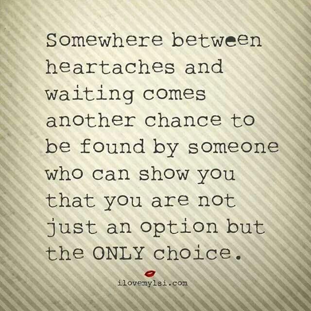 Between heartache & waiting