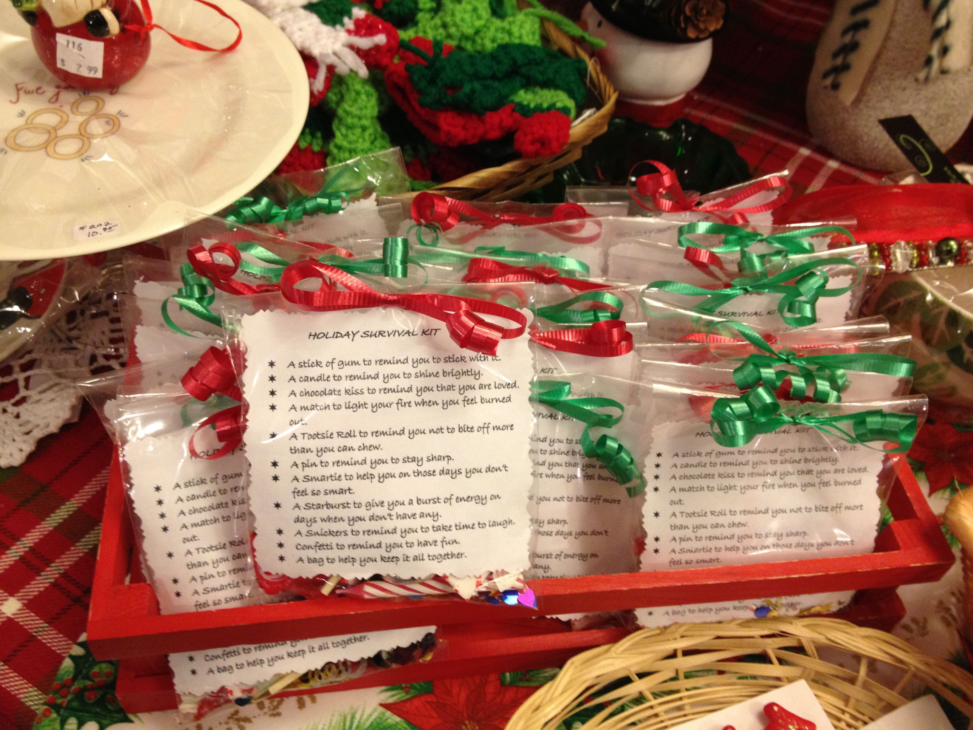 Christmas Survival Kit Survival Kit Gifts Survival Kit Themed Gift Baskets