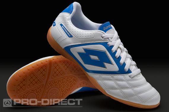 12e99e3243f Lotto Football Boots - Lotto Stadio Potenza II 700 Indoor - Soccer Cleats -  White-Blue