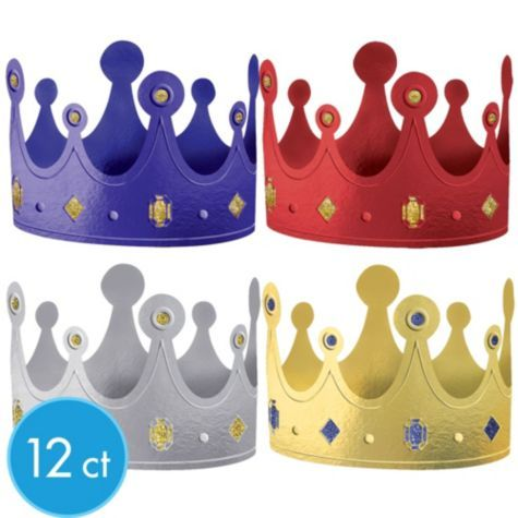 Gold Party Crowns 6 Ct Kids First Birthday Party Hats For Party Decorations Supplies Dress Up Pretend Play Toys Games Urbytus Com