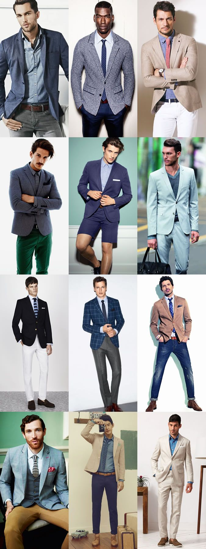 Mens smartcasual office dress code lookbook springsummer