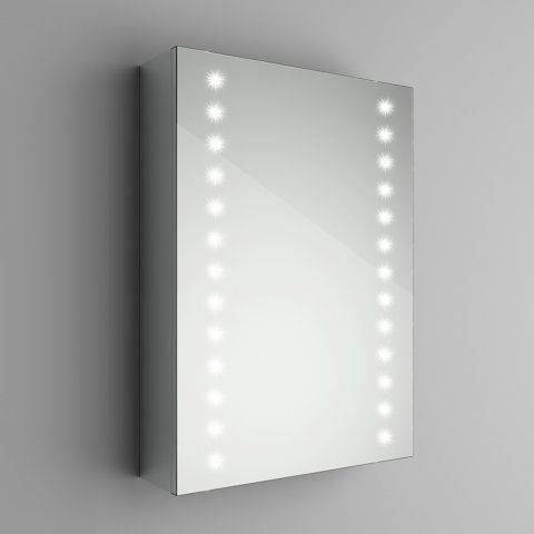 498mmx700mm Galactic Illuminated Led Mirror Cabinet With Shaver Socket Soak Com Led Mirror Mirror Cabinets Bathroom Mirror Lights