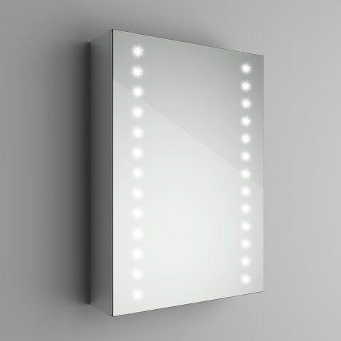 Richmond Led Illuminated Bathroom Cabinet Mirror With Shaver Socket 500 X 700mm Bathroom Mirror Cabinet Illuminated Bathroom Cabinets Led Mirror Bathroom