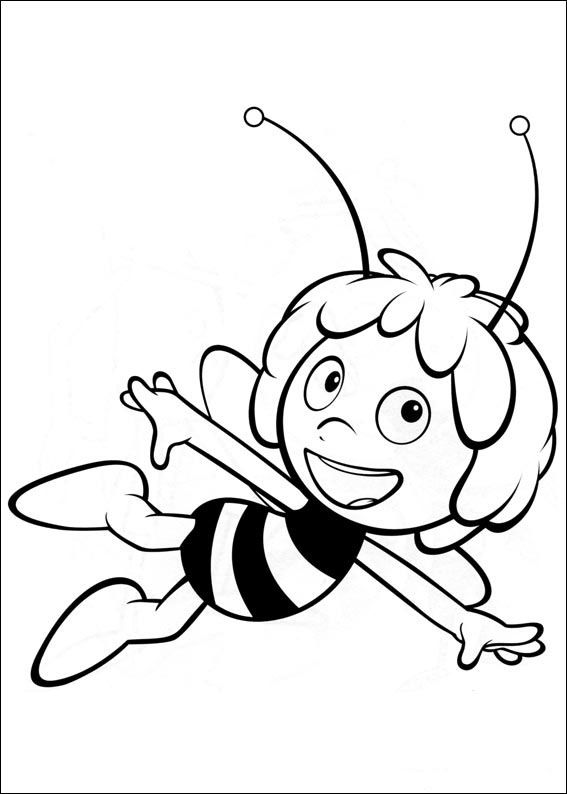 maya bee coloring pages for kids printable online coloring 1