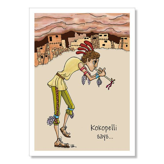 Kokopelli Birthday Card Funny Birthday Card Native American Card
