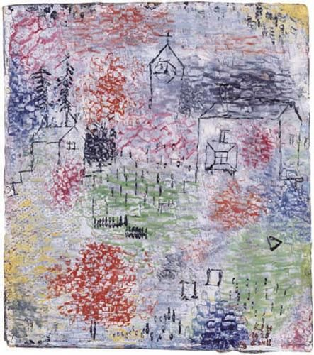 Small Landscape with the village church - Paul Klee