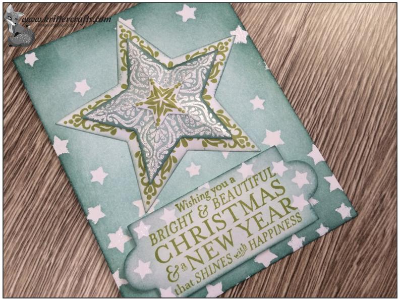 beautiful bundle of stars  stampin up christmas cards