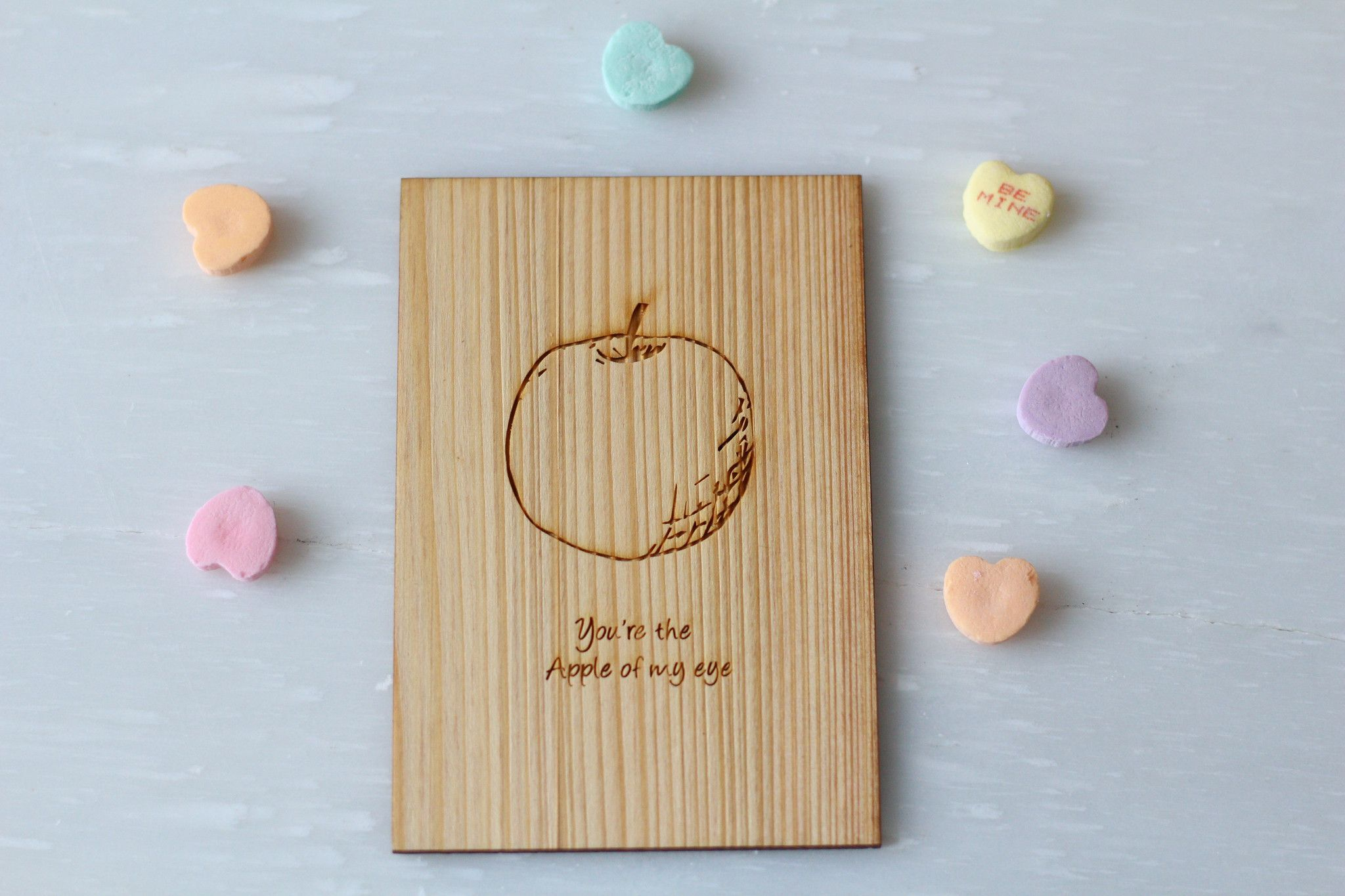 Wood greeting card apple of my eye products wood greeting card apple of my eye m4hsunfo