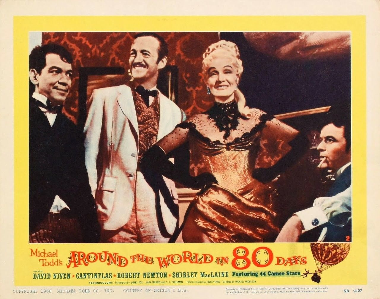Around The World In 80 Days 1956 Lobby Card With Images
