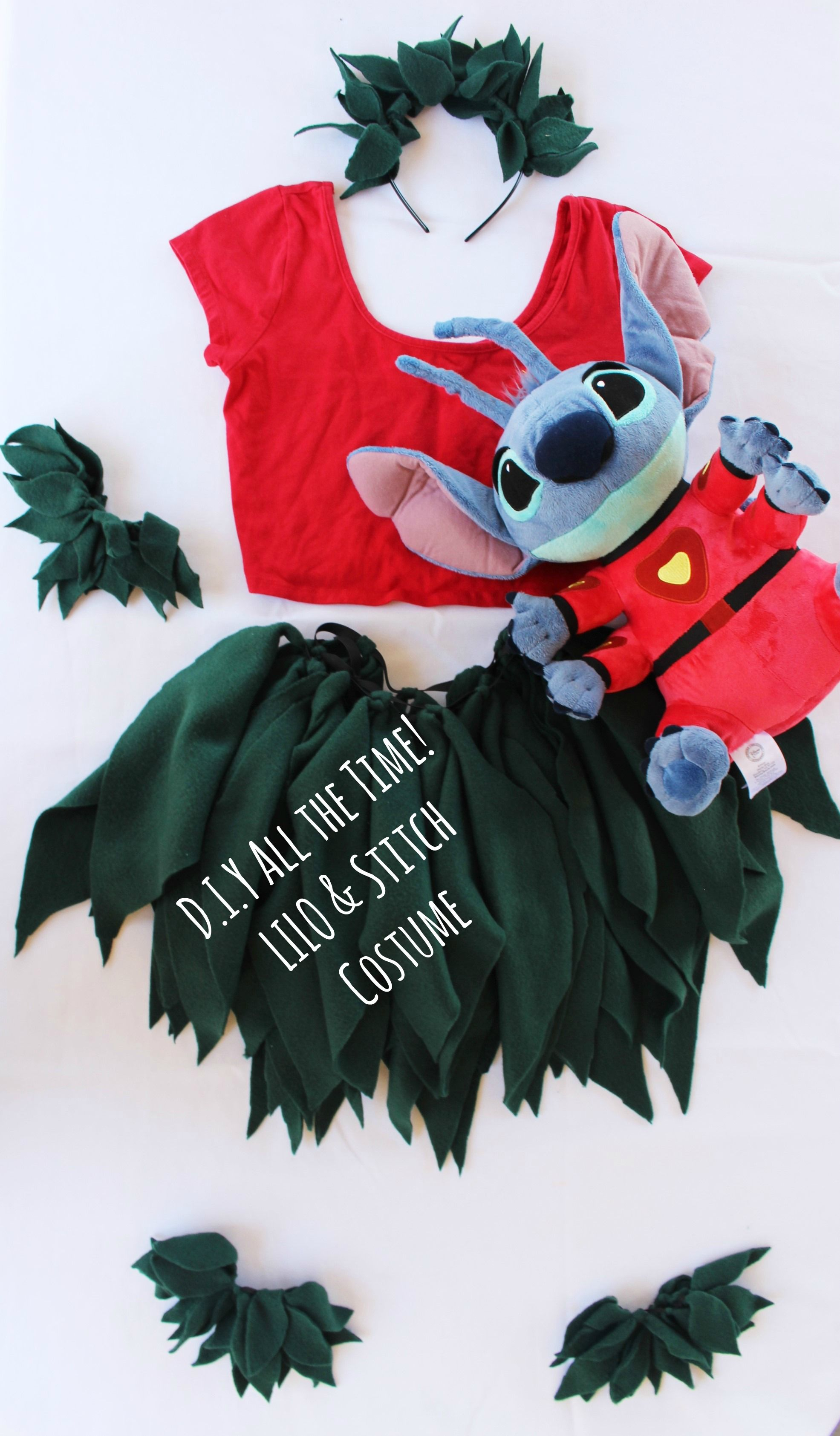 D.I.Y All the Time! LILO & Stitch Costume! No Sew No Glue ...
