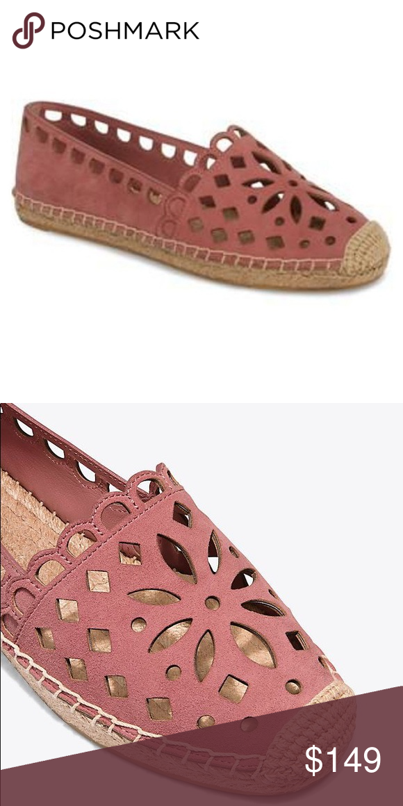 baa9e50557fe Tory Burch May Espadrille Brand new with box and dust bag. Rose color suede.  Will post pics of actual shoes soon. Tory Burch Shoes Espadrilles