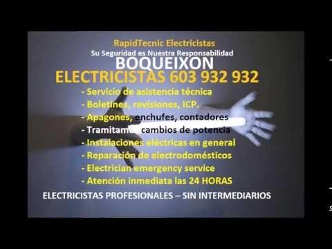 Electricistas BOQUEIXON 603 932 932 Baratos