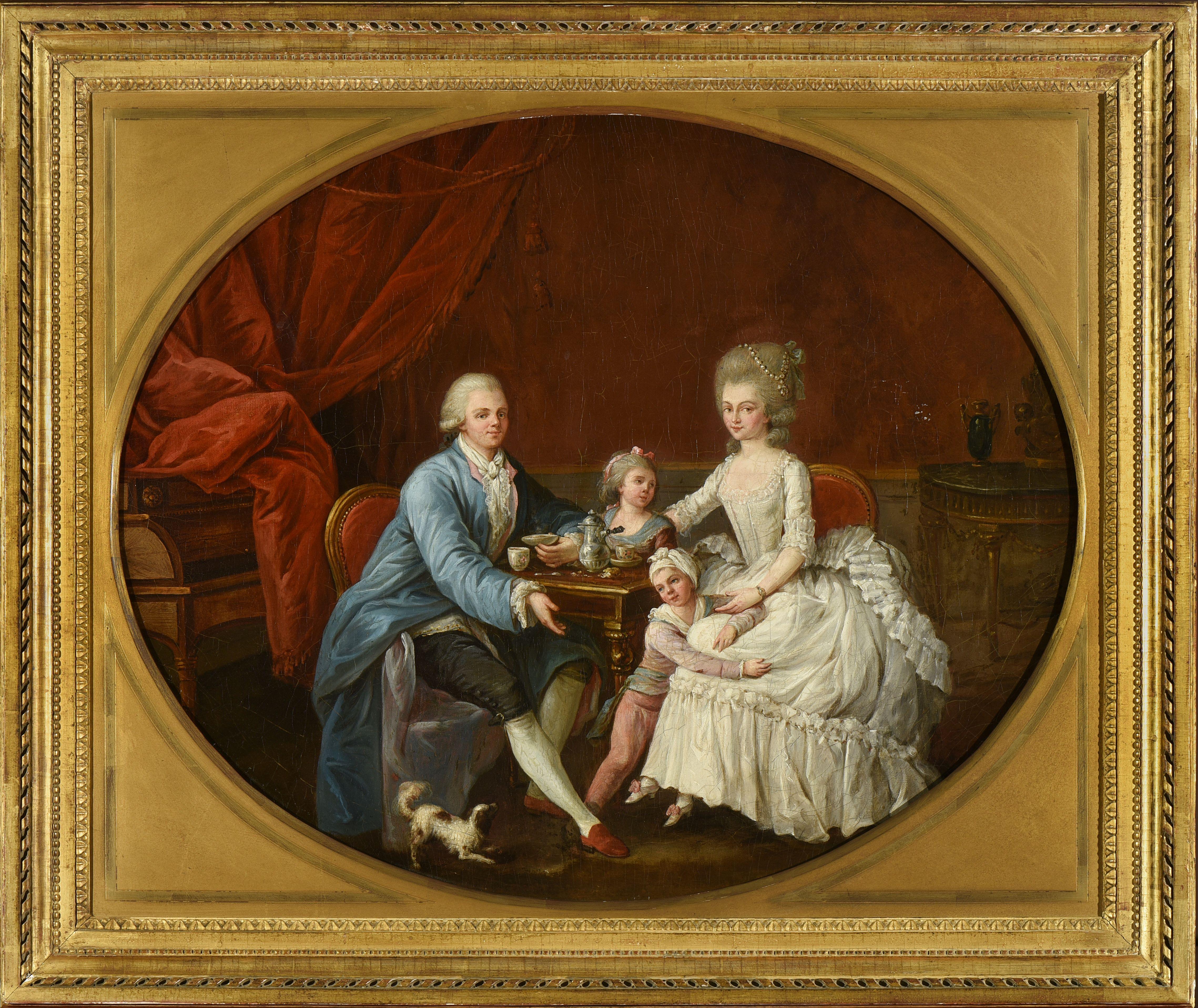 Ecole Francaise Dernier Quart Du Xviiie Siecle Entourage De Charles Lepeintre 1735 1803 Famille 18th Century Paintings Portrait Art Painting
