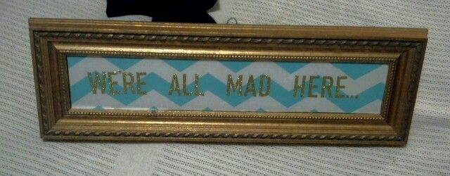 Old mirror+ kitchen liner (contact paper) + scrapbook letters= wall decor