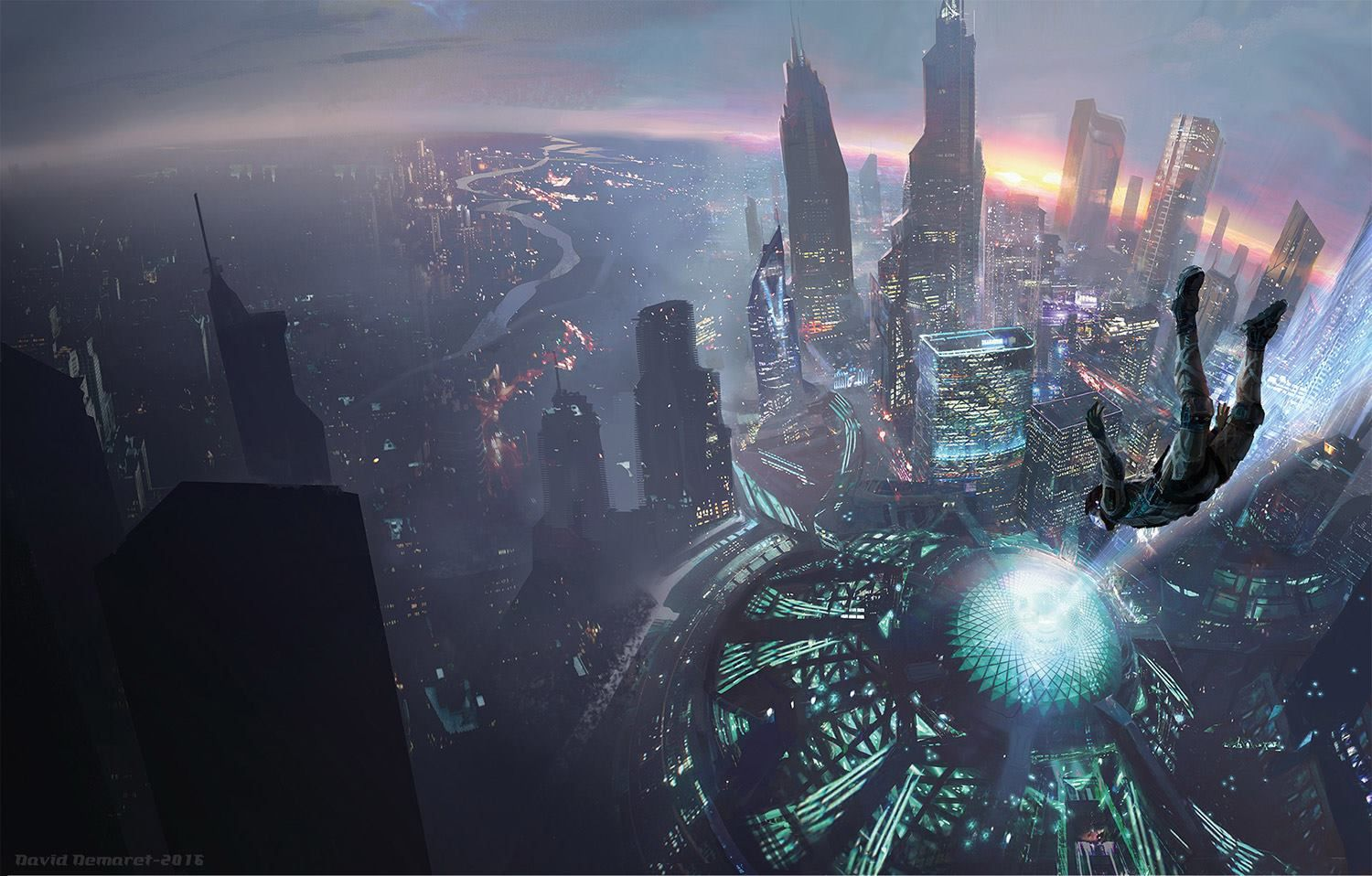 """End of All Things"" by #DavidDemaret. #sciencefiction #scifi #cityscape"
