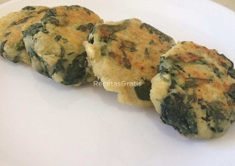 Receta de Tortitas de espinaca y patatas