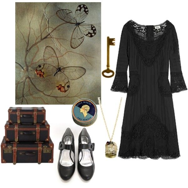 Vintage girl, created by isidora on Polyvore
