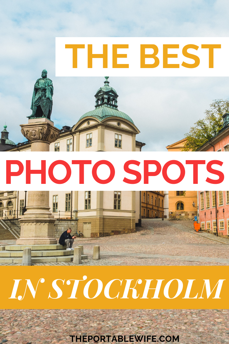 Looking for the best Stockholm photo spots? Stockholm, Sweden's candy-colored buildings and waterfront views are a photographer's dream. These Instagram spots in Stockholm showcase the best Stockholm views. Includes a custom map. #Stockholm #photography #traveltips