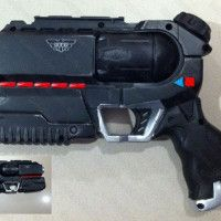 Mass Effect supper soaker custom paint and airbrushed.