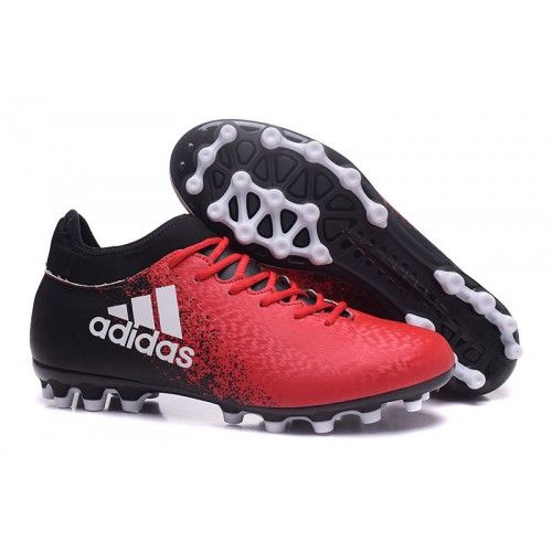 Zapatos Futbol Adidas X 16.3 AG Rojo Negro Blanco