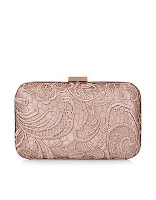 Lace Overlay Hardcase Clutch Bag | Formal Event Wear | Pinterest ...