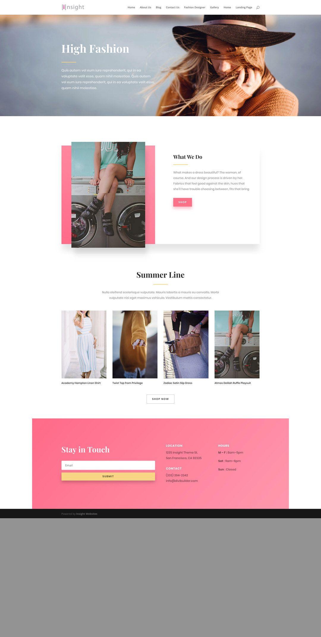 Fashion Designer S Website Design Layouts Website Layout Inspiration Website Design Layout Website Design