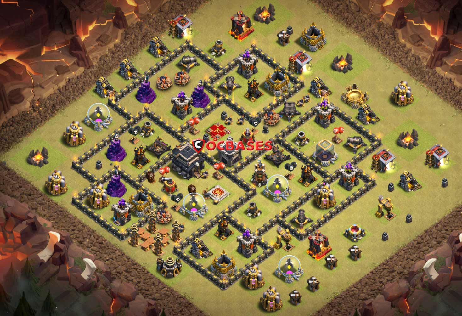 Unbeatable Th9 War Base 9