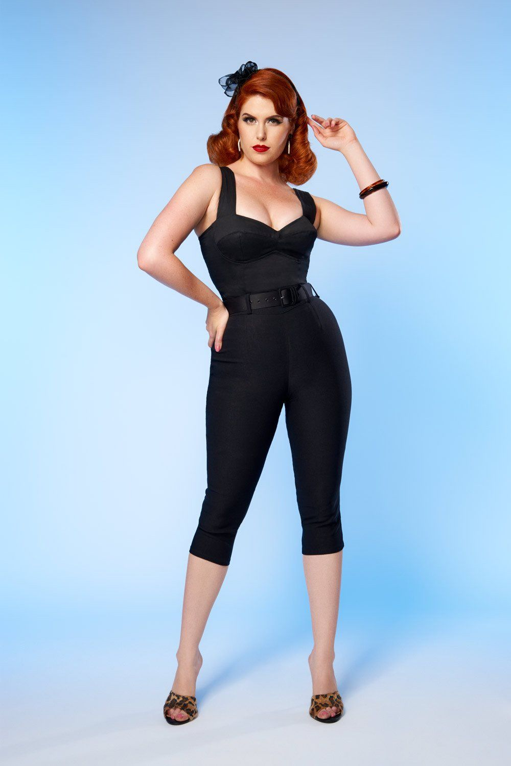 c5e34042ea7 Traci Lords - Allison Bad Girl Stretch Capri Pants with Heart Pockets in  Black
