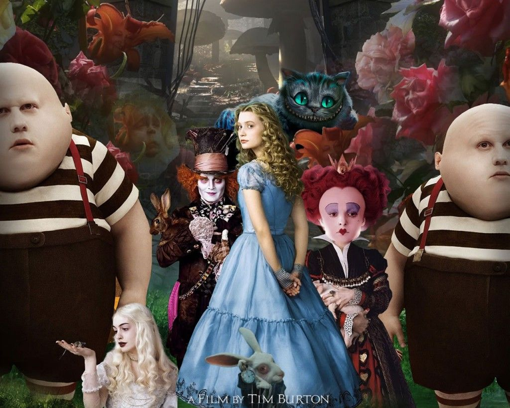 """Alice in Wonderland - Tim Burton   """"How many of us followed a rabbit to a world, with foreseen events"""""""