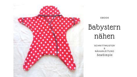 Anleitung: Babystern nähen   Handarbeiten   Pinterest   Nähen, Baby ...