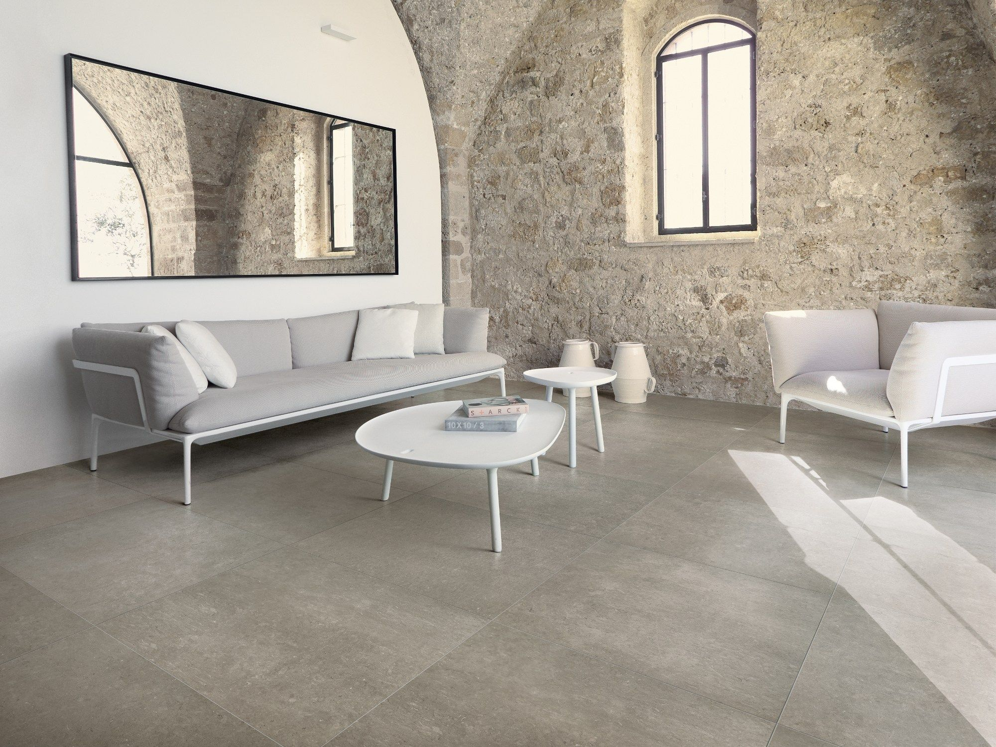 Ceramic Flooring With Stone Effect Poesia By Ceramiche Refin Living Room Tiles Rustic Living Room Design Brick Living Room