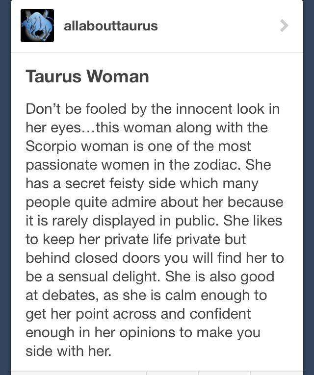 Taurean woman