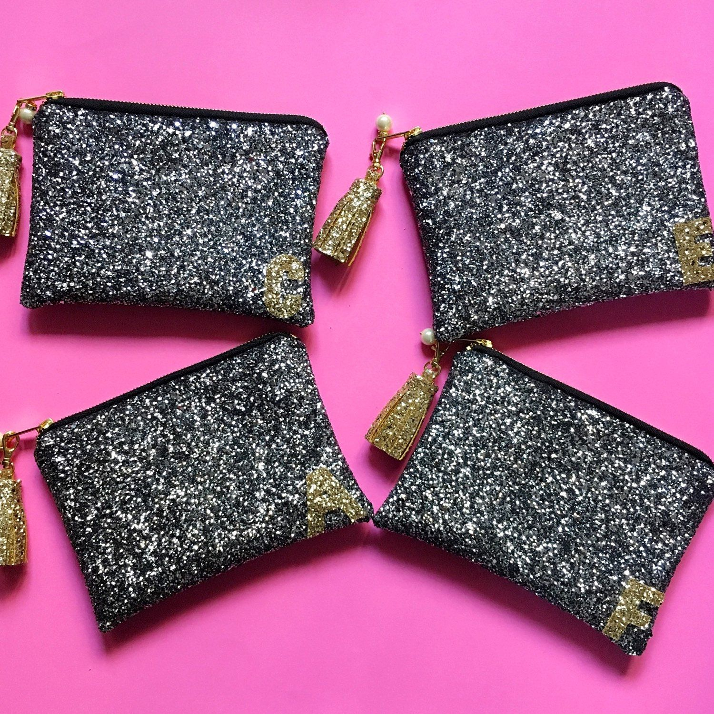 Bridesmaid Glitter Cosmetic Bag Bridesmaid Gift