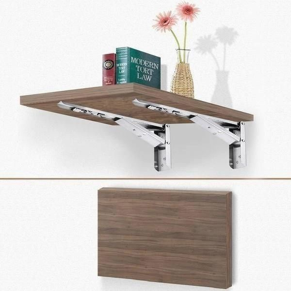 2pcs Foldable Wall Shelf Bracket In 2020 Collapsible Shelves Wall Shelf Brackets Diy Shelves