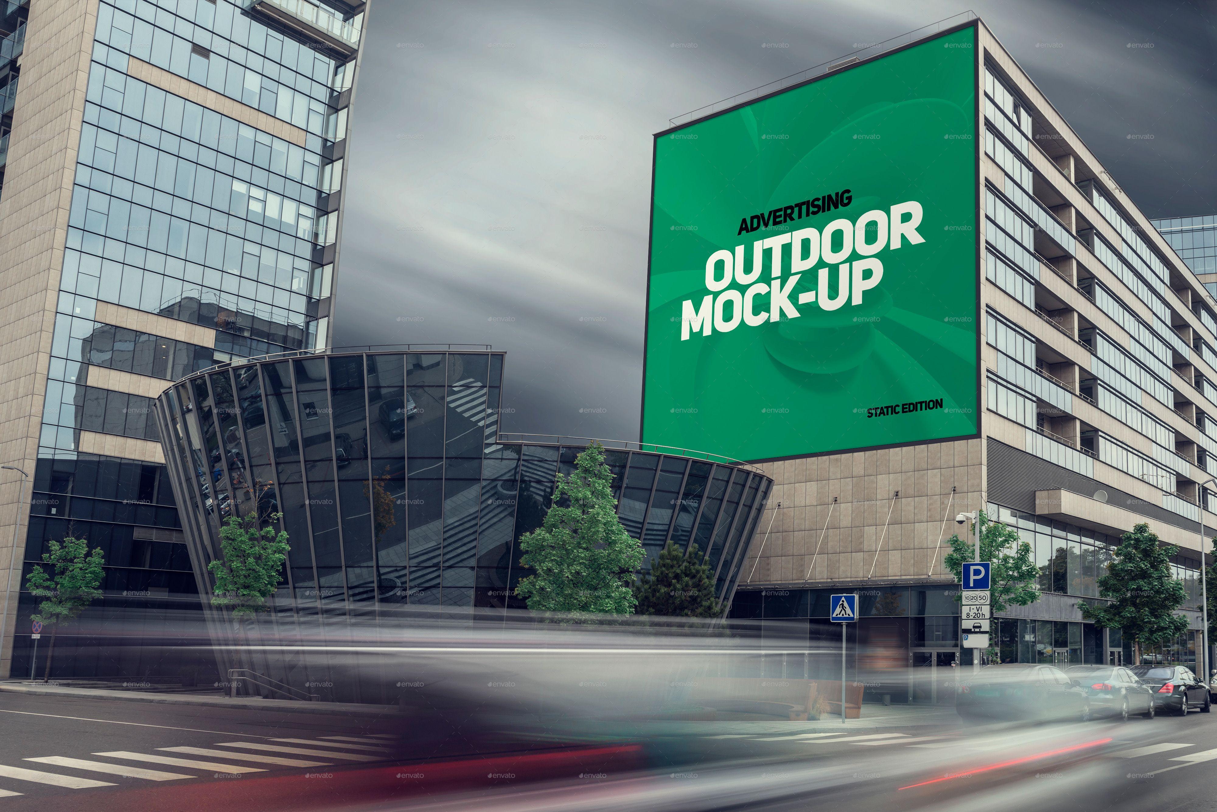 наружная реклама на фасадах зданий