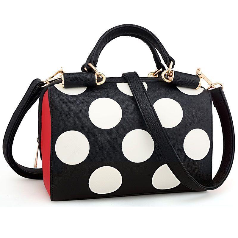 Cute Black&White Polka Dot Handbag