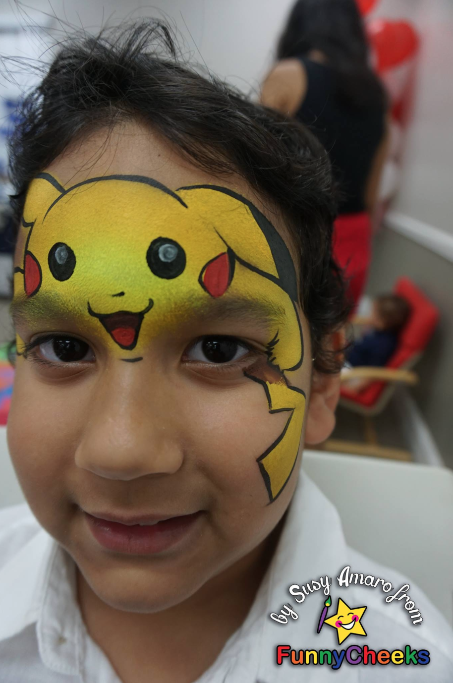 Pikachu Pikachu Face Painting Superhero Face Painting Face Painting For Boys