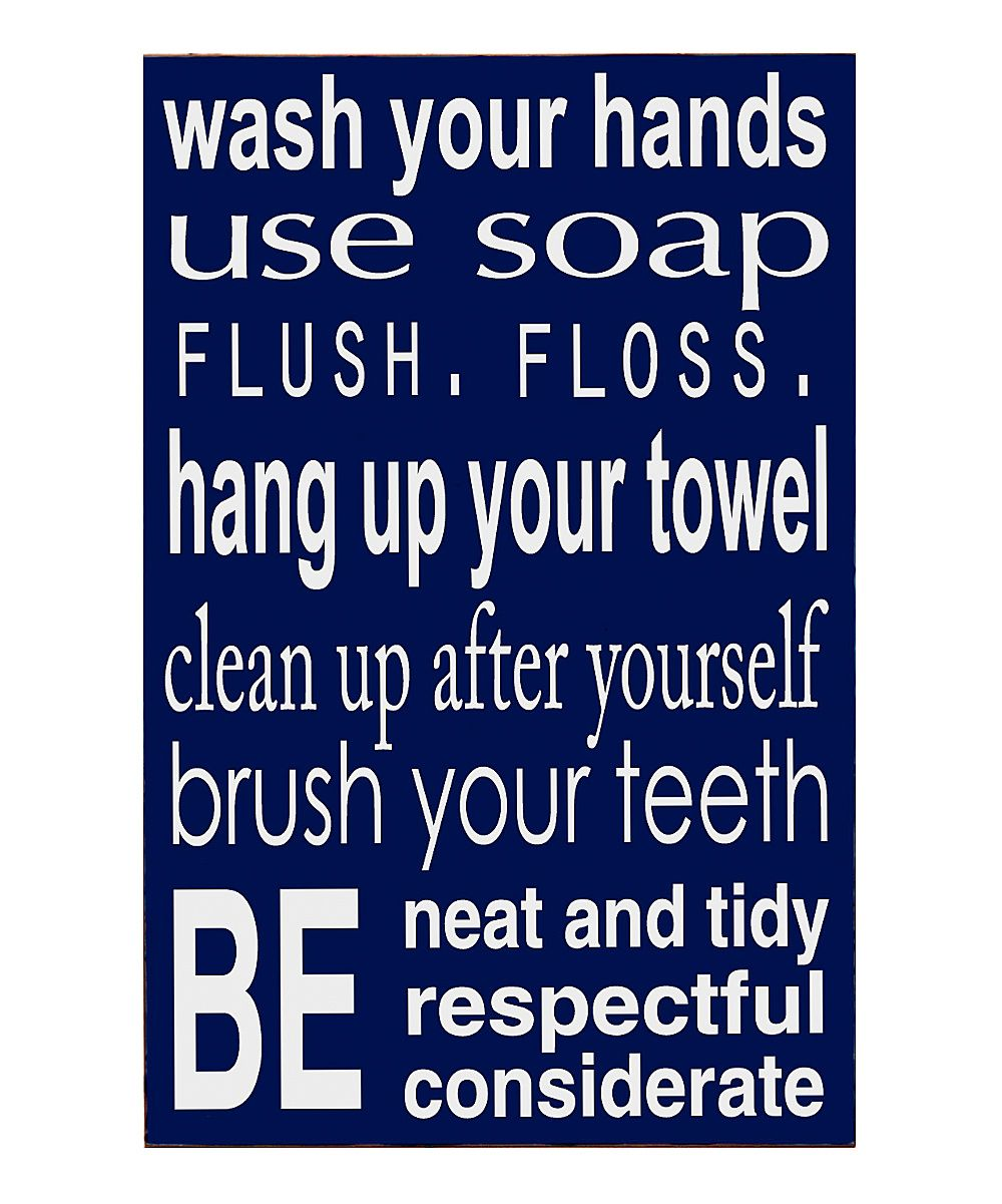 Bathroom rulesu wall art my decor pinterest bathroom rules