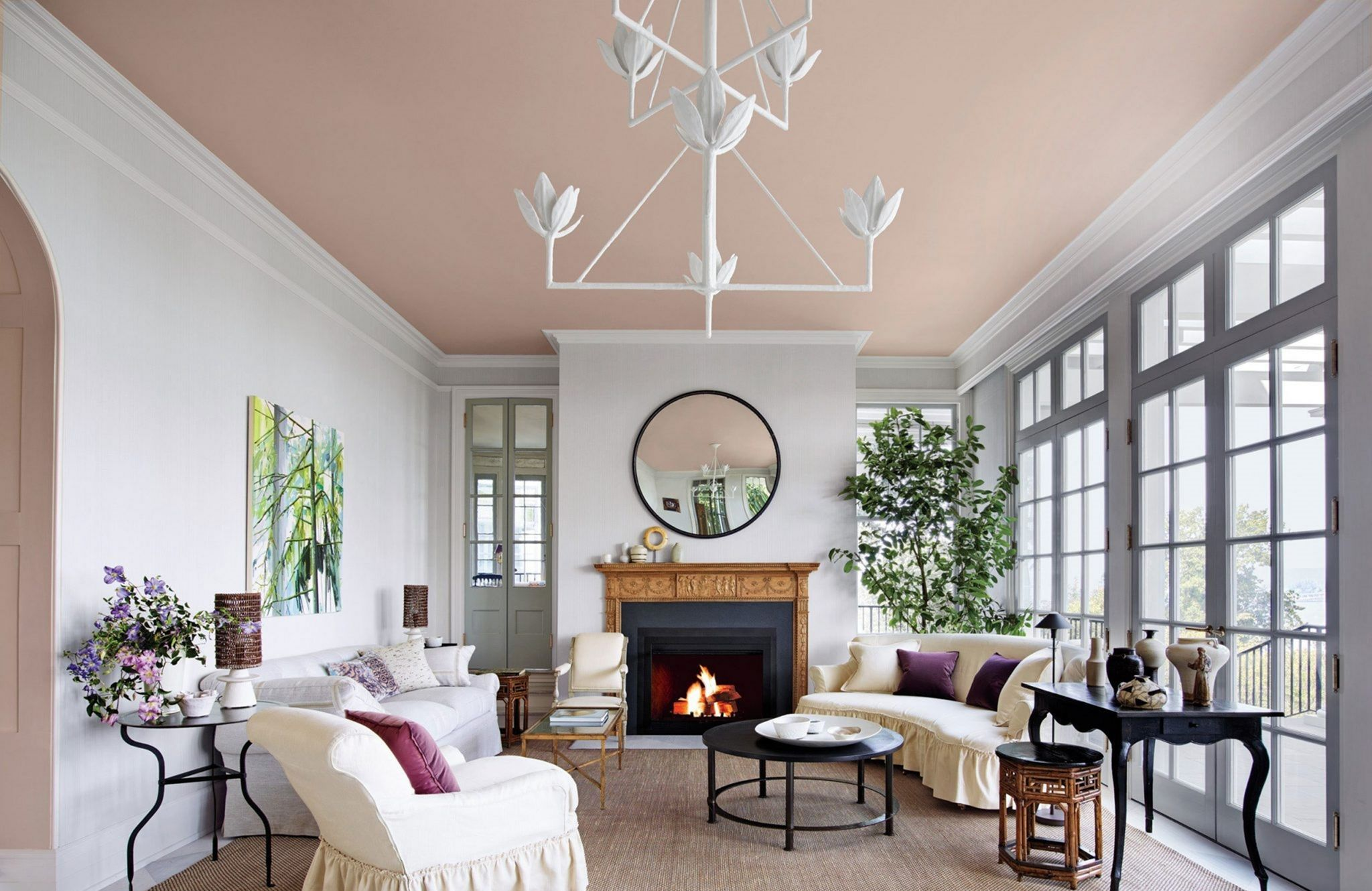 10 Impressive Ceiling Painting Ideas For Your Small Home Unique