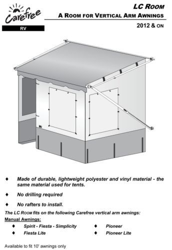 RV CAMPER TRAILER AWNING ADD ON ROOM-NEW! FITS A 10 ...