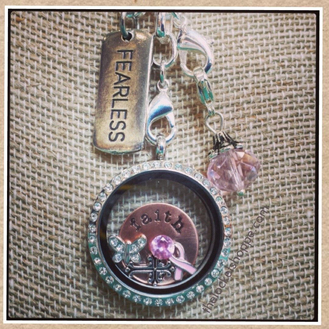 Breast Cancer Awareness Locket.. Contact Me Today To Order One Just Like This!!